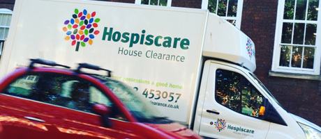 Van with Hospiscare brand identity