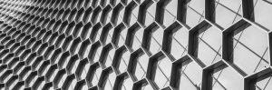 Hexagonal windows on a building exterior